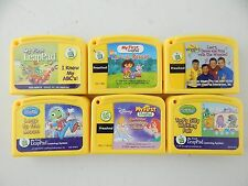Lot of 6 My First Leap Pad Game Cartridge ABC's Writing Disney Dora Wiggles LOOK