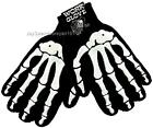 Men's Gloves White Skeleton Bone Gothic Winter Work Biker