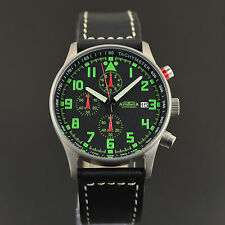 ASTROAVIA AIR CRAFT No.4 - 6 ZEIGER PROFI CHRONOGRAPH FLIEGERUHR NEU