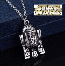 NEW Silver Plated Star Wars R2D2 Necklace - Perfect Gift