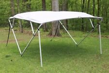 NEW VORTEX SQUARE TUBE FRAME 4 BOW PONTOON/DECK BOAT BIMINI TOP 10' GREY 91-96""