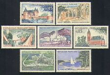France 1961 Tourism/Buildings/Bridges/Sailing/Architecture 7v set (n33102)