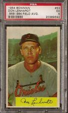 1954 Bowman # 53 Don Lenhardt .969/.984 Field Avg. Orioles  EX PSA 5