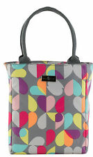 Beau & Elliot Grey Brokenhearted Insulated Lunch Tote Cool Bag Multi Colour New