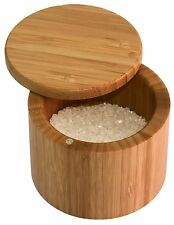 Totally Bamboo Salt Box, Bamboo Container With Magnetic Lid For Secure Storage