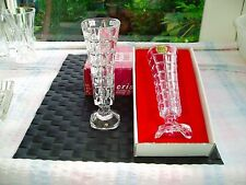 3 cristal d'arc soliflor vases 1 in box d'autres mint