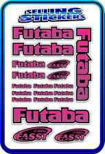 FUTABA SERVO RADIO RX TX 2.4G FLIGHT REMOTE CONTROL STICKERS FASST PURPLE PINK B