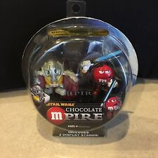 Star Wars Chocolate Mpire General Grievous, Obi-Wan figures M&M sealed package