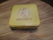 Max Brenner chocolate box empty used can collectible storage cover metal tin