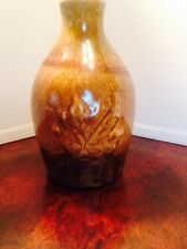 Beautiful Vintage Drip Glazed Maple Leaf Vase Marked, Made in Canada