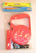 Dog Leash 15 Foot Retractible Leash with Built in Flash Light Battery Powered