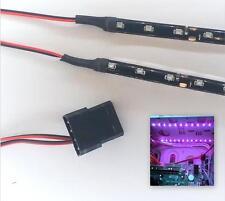 PURPLE MODDING PC CASE LIGHT LED KIT (TWIN 40CM STRIPS) MOLEX 80CM TAILS