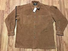 Mens Vtg Double RL Ralph Lauren RRL Corduroy 2-Pocket Baggy Shirt Medium Brown