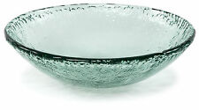 """100% Recycled Glass Textured Large Serving Bowl - 16.5""""Dx4.75""""H"""