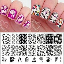 BPL 023 Candy Sweets Theme Manicure Nail Art Stamp Template Image Plate