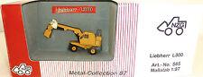 Liebherr L300 Scavatrice Escavatore gommato giallo NZG 565 Metallo Collection H0