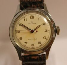 Vintage Helbros Invincible 17 Jewel 61B Military Dial Rare Manual Wind Watch LOT