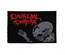Embroidered Patch Iron Sew Logo Emblem Custom CANNIBAL CORPSE DEATH METAL