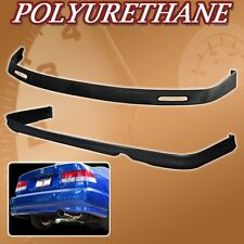 FOR 96-98 CIVIC 2DR 4DR T-BYS URETHANE PU FRONT REAR BUMPER LIP SPOILER BODY KIT