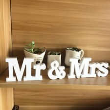 Matrimonio Reception Insegna Cartello In Legno Massiccio Lettere Mr & Mrs