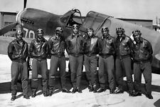 New 5x7 World War II Photo: Tuskegee Airmen of the 332nd Fighter Group - 1942