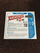 Monopoly Zapped Edition Game  Spare Replacement Instructions Rules Y162
