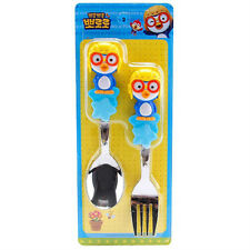 Pororo 3D handle spoon & fork set / Pororo spoon & fork (standard & sweety)