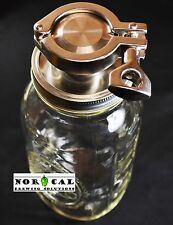 Jaybird ULTIMATE Tri Clover 64oz CANNING JAR YEAST HARVESTER 4 Conical Fermenter