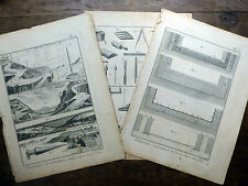 Encyclopédie Diderot D'Alembert 3 Planches FONTAINIER FONTAINE 18e s.
