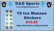 10 ICE Munzee stickers, with FREE Extra and shipping