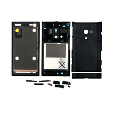 New Full Housing Battery Cap Back Cover + Frame For Sony Xperia acro S LT26w BLK