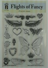Clear Acrylic Stamps Flights of Fancy wings by HOTP