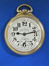 NICE - Illinois - #28 - Bunn Special - 23J/60H - 10K GF - Railroad Pocket Watch