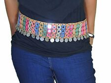 Gypsy Belly Dance Mirror Banjara Belt - Embroidery Coin Work Accessory One Size