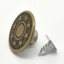 """25Sets Bronze Tone Jeans Tack Buttons 17x8mm(5/8""""x3/8"""")"""