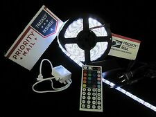 RV Awning Waterproof RGB 300 LED Strip w/44 Key Remote & 12v Power 5A USA-Ship