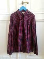 Essentiel Antwerp Girls Empire Bluse rot kariert 14 Red Tartan Blouse Chemise