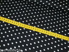 Viskose Punkte Dots Tupfen schwarz weiß Damen Stoff Meterware Blusenstoff