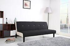 Schlafsofa Schwarz/Weiß Stoff Sofa Couch Couchgarnitur Schlaffunktion Bettcouch
