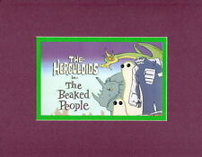 HERCULOIDS - The BEAKED PEOPLE PROMO PRINT PROFESSIONALLY MATTED Hanna Barbera