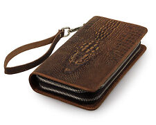 Deal in Florida * Alligator Clutch Geldbörse Echtleder Tasche Krokodil Handmade