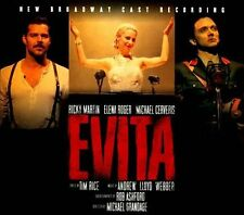 EVITA New Broadway Cast Recording 2CD NEW Slipcase Ricky Martin Elena Roger