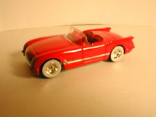 LOOSE mint Hotwheels Boulevard  1955 CORVETTE red  with real rider tires
