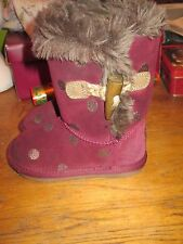 GIRLS NEXT FUR LINED BOOTS SIZE 7