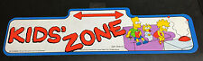 "Ultra Rare 1990 Official VINTAGE Original The Simpsons Street Sign ""Kids' Zone"""