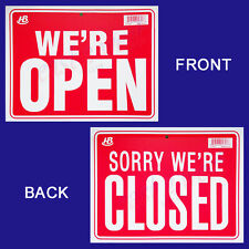 """1 Sign in Front WE'RE OPEN  in Back  SORRY WE'RE CLOSED Flexible  Plastic 9""""x12"""""""