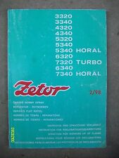 1998? Original Vintage Zetor 3320 7340 Horal Turbo Tractor booklet