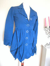 TEENAGE GIRL BUBBLE HEM LONG JACKET COAT SIZE 12-13 YEARS 158CM BLUE TEEN MAC