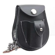 Genuine Leather 2 in 1 Slingshot Pouch W/Steel Ball Magnet Pouch Bag Case Holder