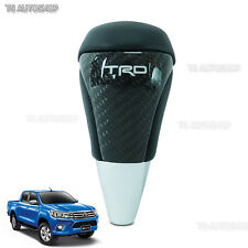 TRD Style Kevlar Leather Shift Knob Automatic For Toyota Hilux Revo SR5 M70 M80